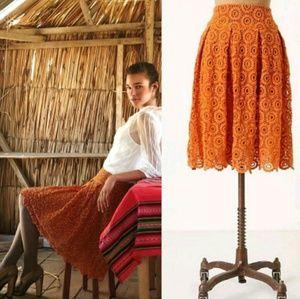 Anthro / MOULINETTE SOEURS Tuberose Lace Skirt